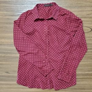 The Limited Maroon Button Down Blouse L